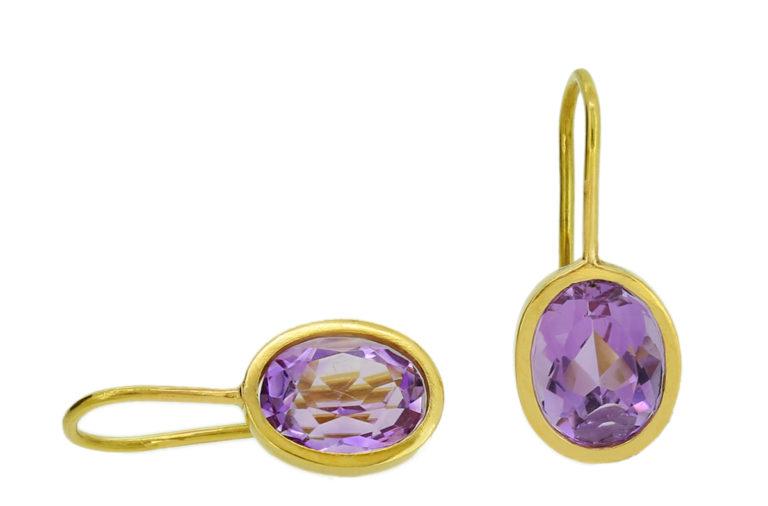 Ohrhänger Gold mit Amethyst