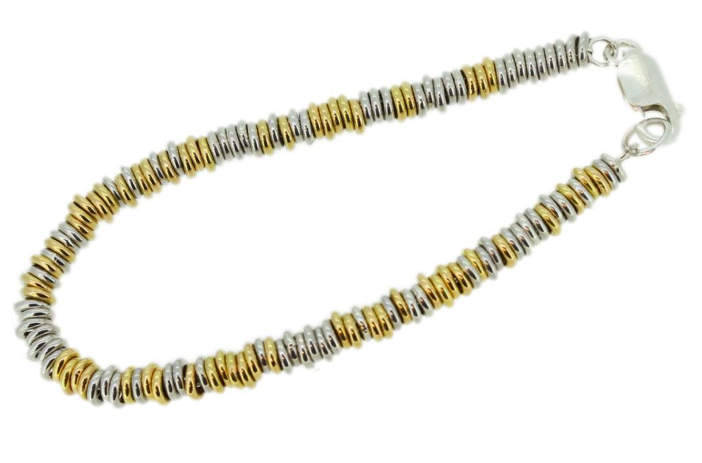 Armband aus Gold und Silberoesen