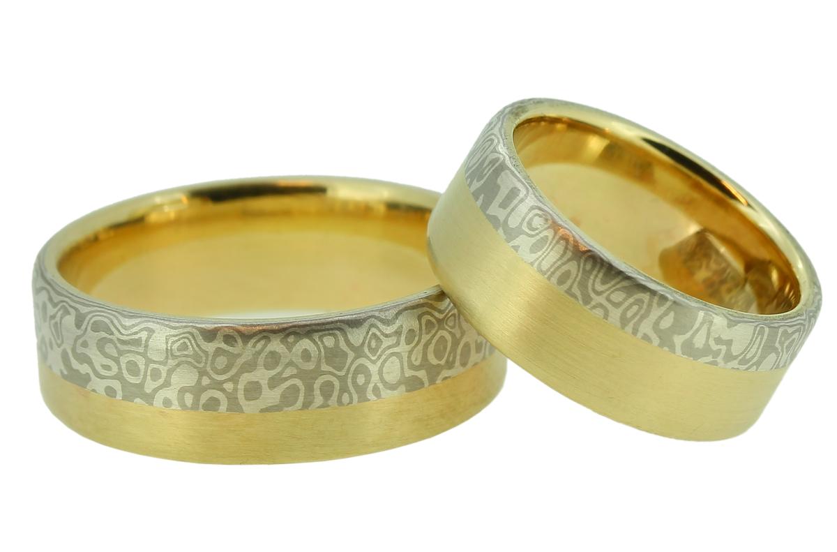 Mokume Gane Gold, Palladium Silber