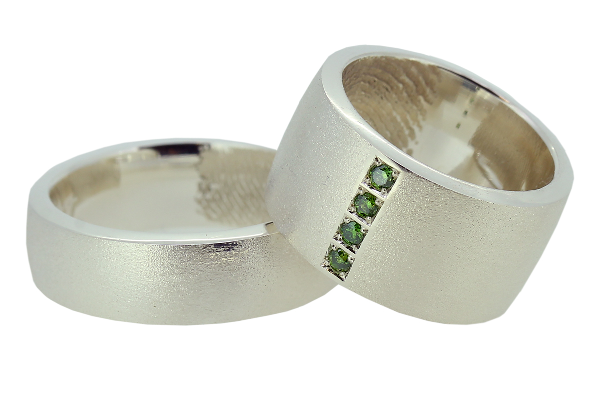 Breite Trauringe aus Silber
