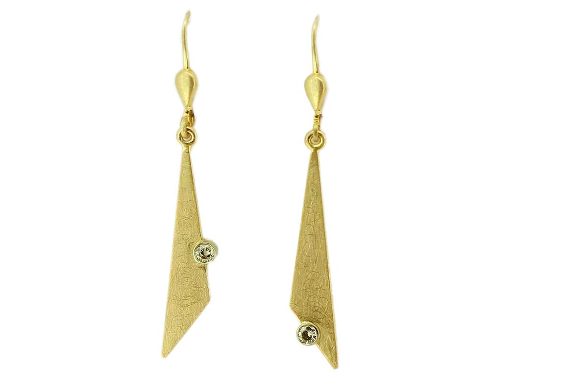 Ohrhänger Gold mit Brillanten