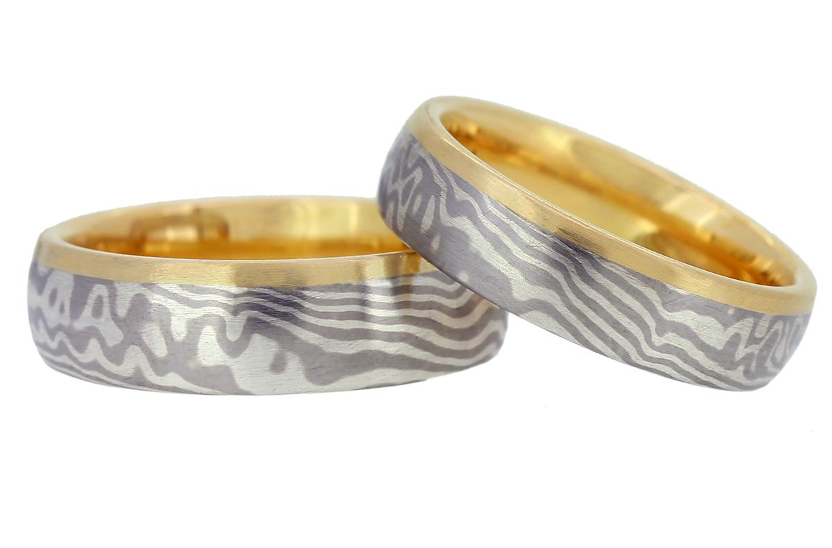 Mokume Gane Silber Palladium und Roségold