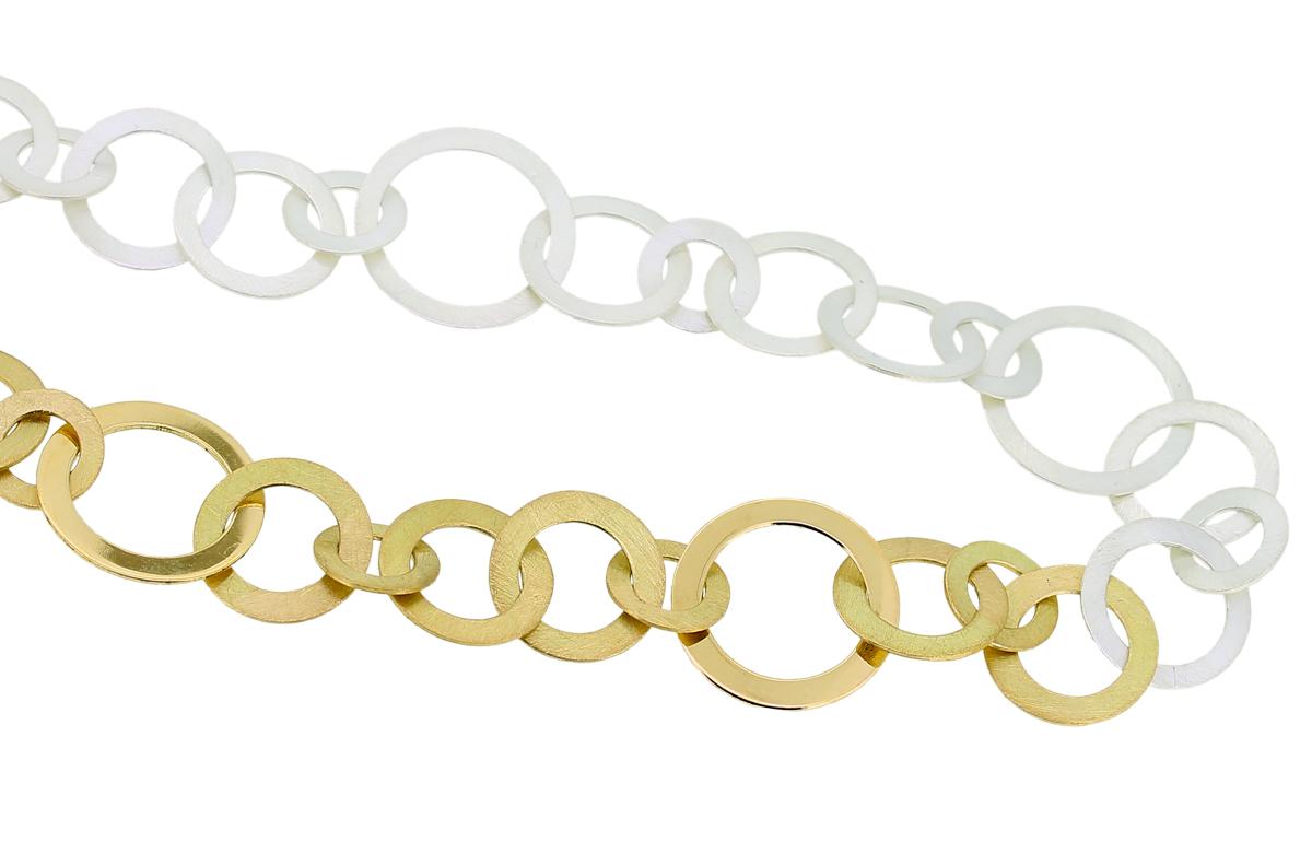 Scheibenkette aus Gold und Silber